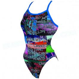 Maillot de bain femme 1 pièce W Fench Riviera blue/multi