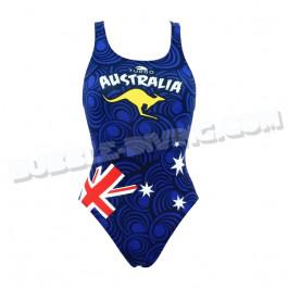 Maillot Femme Bretelles Larges Australie Bleu