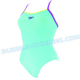 Maillot Femme PowerFlash bleu clair Speedo