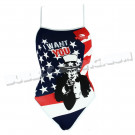 Maillot Femme Bretelles Fines USA Want You