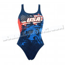 Maillot Femme Bretelles Larges USA Liberty